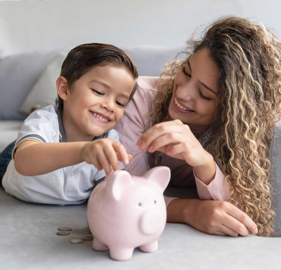 Mother teaches son how to save money after finding out she is eligible for policy-related home insurance discounts